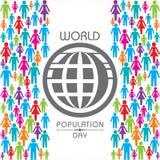 Illustration, affisch eller baner för dag för världsbefolkning stock illustrationer