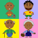 Illustration of african characters for the children's book Stock Photography