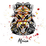 Illustration of an African mask Stock Photo