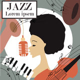 Illustration of an afro american jazz singer Stock Images