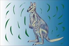 Illustration agile de wallaby Images libres de droits