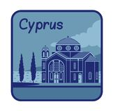 Illustration with Agios Georgios church in Cyprus Royalty Free Stock Image