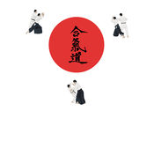 Illustration with the aikido image Stock Photos