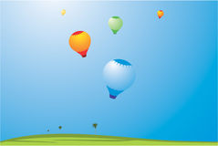 illustration Air Balloon Royalty Free Stock Photo