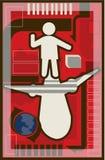 Illustration of air transportation Stock Photos