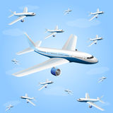 Illustration of an aircraft. Art. Vector illustration Royalty Free Stock Photography