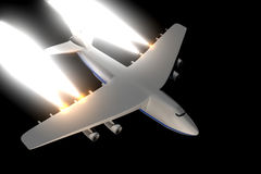 Illustration an airliner. Stock Photography