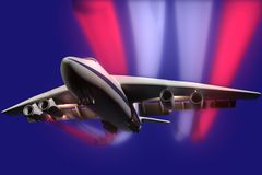 Illustration an airliner. Royalty Free Stock Photography