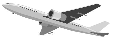 Illustration of airplane Stock Photography
