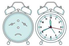 Alarm clock illustration stock illustration