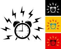 Alarm clock. Illustration of alarm clock ringing Stock Photos
