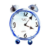 Illustration of alarm clock. Watercolor illustration of alarm clock Royalty Free Stock Photos
