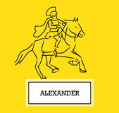 Illustration of Alexander Royalty Free Stock Photography