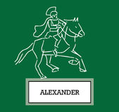 Illustration of Alexander Royalty Free Stock Images