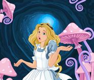 Alice Extremely Confused. Illustration of Alice extremely confused Stock Images
