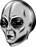Illustration Alien face vector in white background royalty free illustration