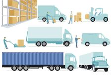 Freight distribution and storage Stock Images