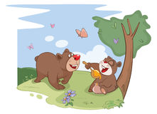 Illustration. All Bears Love Honey Royalty Free Stock Photo