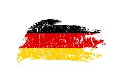 Illustration allemande de drapeau de vintage Drapeau allemand de vecteur sur la texture grunge illustration de vecteur