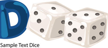 Illustration alphabet letter d-dice Stock Photo