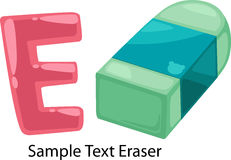 Illustration alphabet letter e-eraser Royalty Free Stock Photo