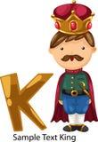 Illustration alphabet letter k-king Stock Images