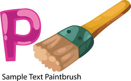 Illustration alphabet letter p-paintbrush Stock Images