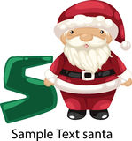 Illustration alphabet letter s-santa. Illustration isolated alphabet letter s-santa Stock Photos