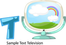 Illustration alphabet letter t-television Stock Photos