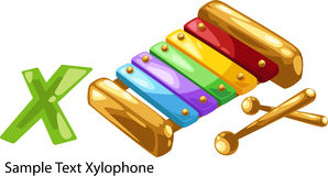 Illustration alphabet letter x-xylophone Royalty Free Stock Photos