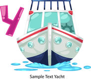 Illustration alphabet letter y-yacht. Illustration isolated alphabet letter y-yacht vector Royalty Free Stock Photography