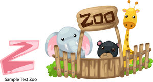 Illustration alphabet letter z-zoo Stock Image