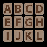 Illustration of alphabetic characters A-L Stock Photography