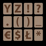 Illustration of alphabetic characters Y-symblos Stock Images