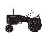 Illustration américaine de vecteur de tracteur de vintage Rétro machine agricole Vieil équipement de ferme Image stock