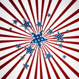 4th of July Background. Illustration of an American Background with stars and stripes Stock Images