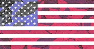 Ilustration of flag of US with other colors royalty free stock photo