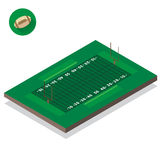Illustration of American football field Stock Images