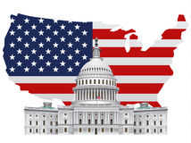 American white house Stock Images