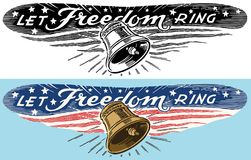 The Liberty Bell Let Freedom Ring royalty free illustration