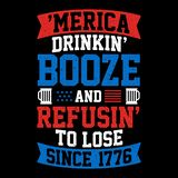 Illustration American Theme The Drinking Booze. MODEnTshirt Design Template based on vector files it can be used for digital printing and screen printing stock illustration