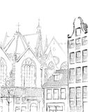 Illustration of  Amsterdam Royalty Free Stock Photo