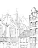 Illustration of  Amsterdam Royalty Free Stock Photo