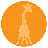Illustration of an amusing animation giraffe for the children's Stock Photography