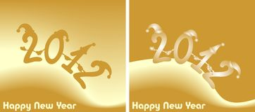 Illustration: amusing New Year's figures 2012 Royalty Free Stock Photos