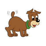 Illustration of an amusing puppy for the children's book Royalty Free Stock Image