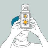 Illustration of analog film camera Stock Images