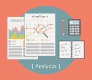 Illustration analytique de vecteur Descripteur d'affaires illustration libre de droits