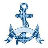 Illustration of anchor with rope Royalty Free Stock Photos