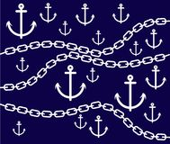 Illustration anchors Pattern Royalty Free Stock Images